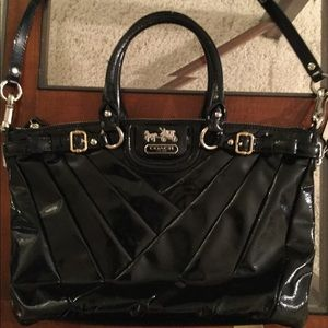 Patient leather coach bag